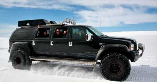 Golden Circle in a Monster Truck and Snowmobiling